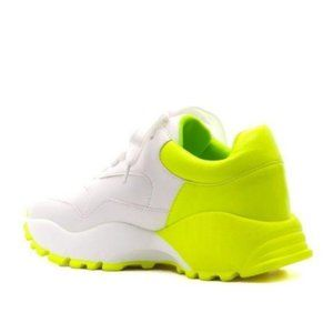 """Chunky """"Dad"""" Sneakers in Lime"""